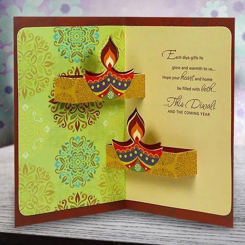 Deepawali greeting card at rs 20 piece festival greeting card deepawali greeting card m4hsunfo