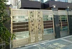 Main steel doors