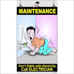 English Electrical Safety Poster