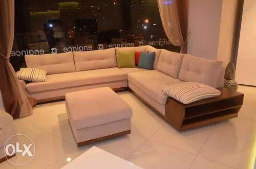 L Shape Corner Sofa With Handle Storage Warranty 5 Year Rs 49000 No Id 19843161073