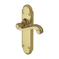 Interior And Exterior Doors Lever Lock Handle Victorian Flat Brass Latches, Size: 6