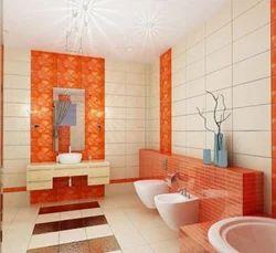 Orange Bathroom Tiles