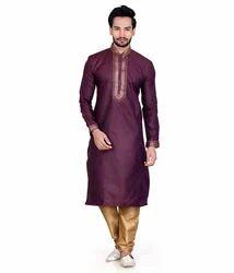 Banaras Jacquard Kurta Pajama Set For Men