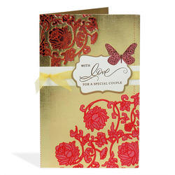 Wedding wishes greeting card at rs 75 piece classy floral wedding greeting card m4hsunfo