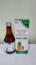 Fungal Diastase, Pepsin With B-complex Syrup, Packaging Size: 200 mL