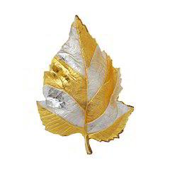 Silver Gold Brass Decorative Leaf