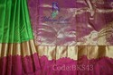 Kanchi Pattu Thread And Zari Border Saree