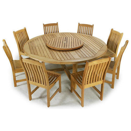 Teak Wood Round Dining Table At Rs 80000 Set Teak Wood Dinning