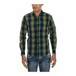 Mens Cotton Full Sleeve Check Shirt