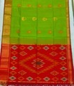 Ikkat Silk Saree, Construction Type: Hand