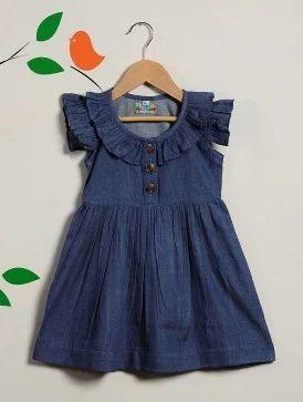 a9e6e02f15b Cotton Blue Kids Denim Frocks, Rs 400 /piece, Kids Lane   ID ...