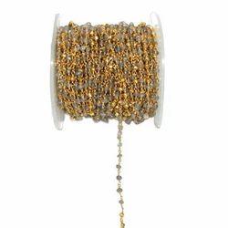 Labradorite Gemstone Rosary Chain