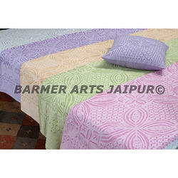 Cotton Applique Hand Made Bed Cover