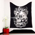 Queen Hippie Skull Wall Hanging Halloween Tapestry