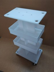 Acrylic Product Display Trolley
