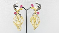 Gold Cubic Zirconia Earring