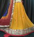 Chiffon Gota Work Party Wear Lengha Choli