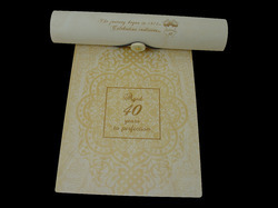 Wedding Invite Cards with Cylinder