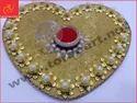 Gold Heart Shape Ring Ceremony Tray