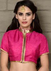 465f0fd707b84e Banjara India Women s Dupion Silk Aari Embroidered Long Sleeves ...