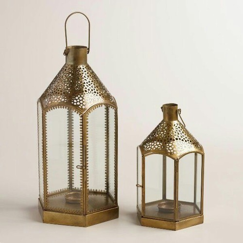 Candle Lantern Moroccan Hanging Battery Type Non Rechargeable