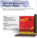 3M 518 Wetordry Abrasive Sheets