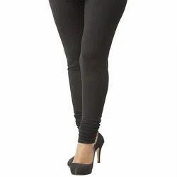 LEEMA Black Cotton-Lycra Leggings