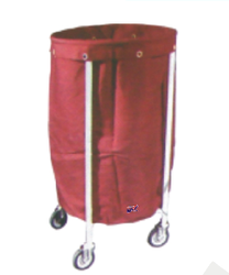 Solid Linen Trolley With Canvas Bag