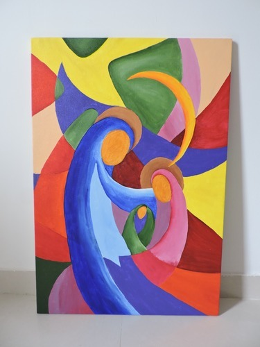 abstract canvas painting at rs 4200 piece hobby art pune id