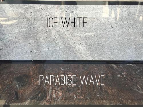 Ice White and Paradise Wave Granite