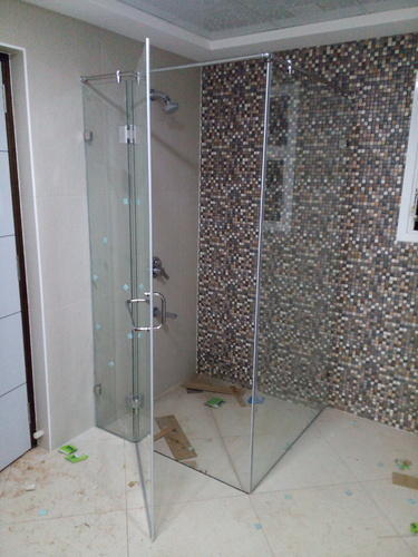Shower Cubicle Frame Less 90 Degree Shower Enclosure