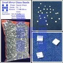 Glass Mirror Beads (square 03)