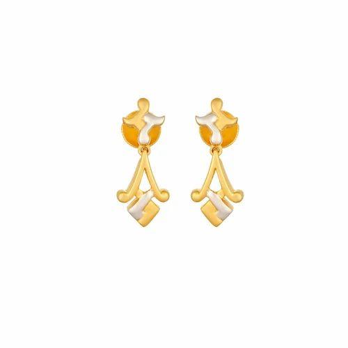 Tanishq Yellow Gold Drop Earring