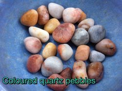 Coloured Quartz Pebbles