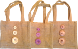 RJU Brown Jute Gift Handbag, Size: 8 X 8 X 4 Inch, 50-100 Gm