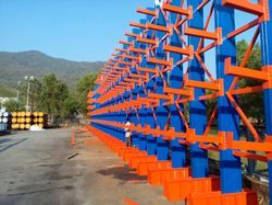 Blue And Orange Tech-mark Cantilever Racks