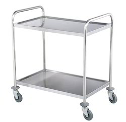 Two Tier Stainless Steel Trolley