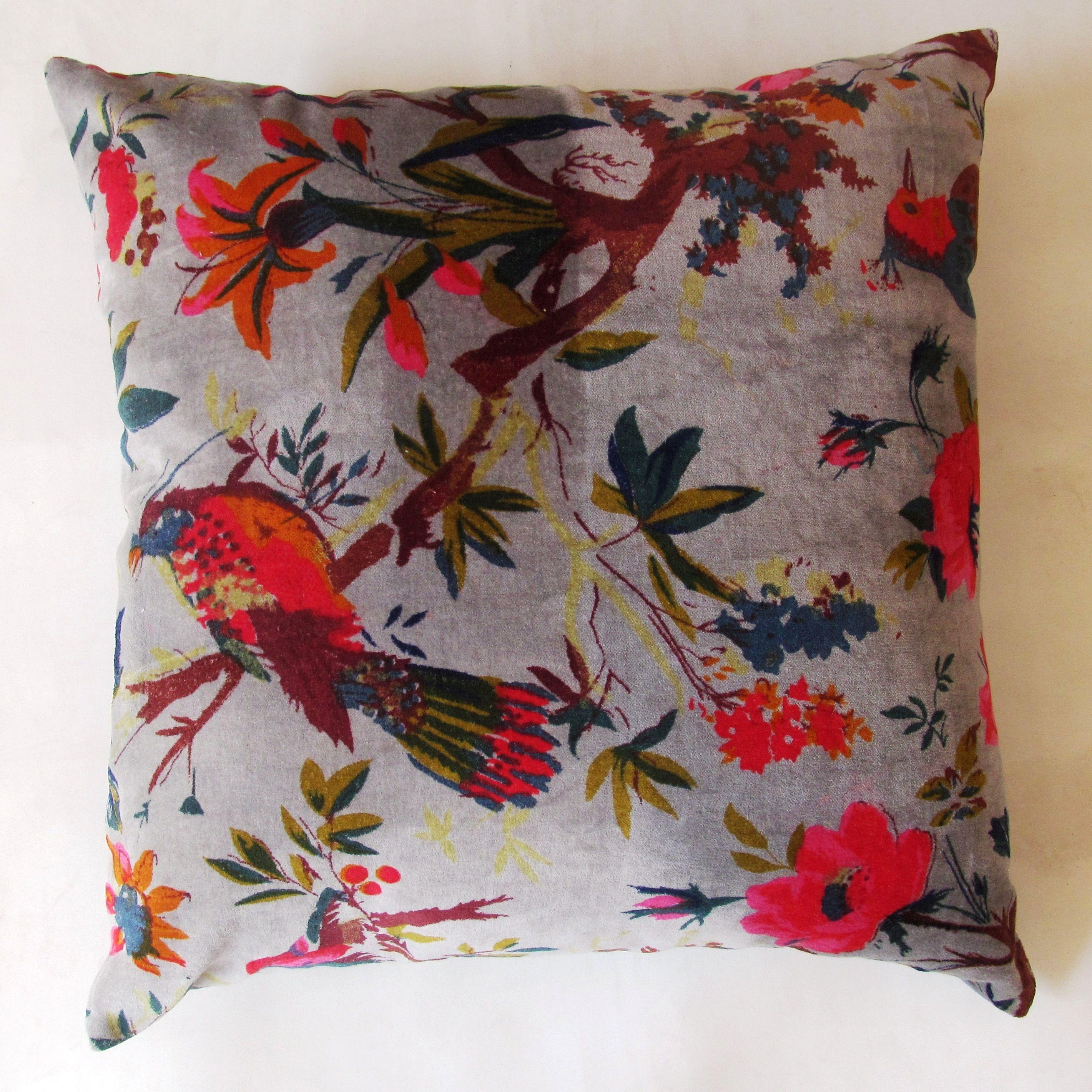 Bird Print Velvet Cushion Covers Size 40 X 40 Cm Rs 190 Piece Id 12208912162