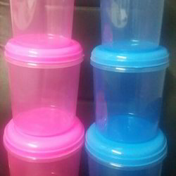 Coloured Plastic Containers Set