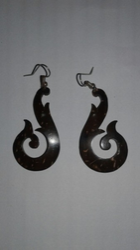 Coconut Shell Earring