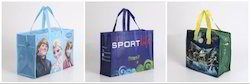 Gusset And Handle BOPP Laminated Promotional Bag