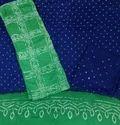 Green Bandhani Dress Material