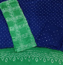Green Bandhani Dress Material