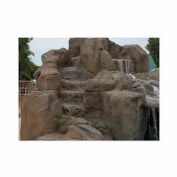 Brown Stone Garden Fountain