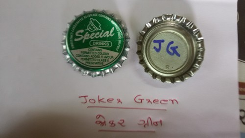 Joker Green Crown Caps