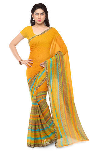 2d21709c35 Low Price Georgette Saree With Blouse at Rs 220 /piece | Mangrol ...