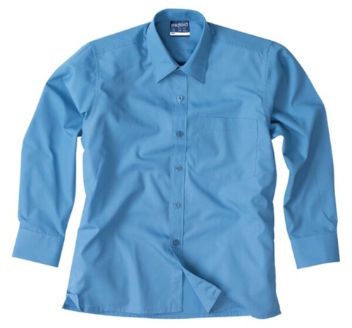 Blue Cotton Kids School Shirt