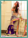 Embroidery Net Sarees