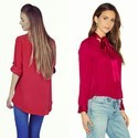 Cotton Plain Shirts For Women