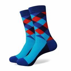 Men Pattern Cotton Socks